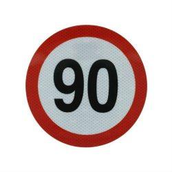Sticker mare limitator viteza 90km