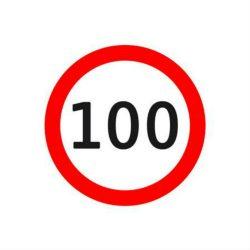Sticker mare limitator viteza 100km