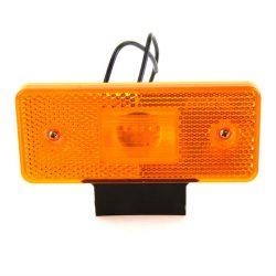 Lampa gabarit galbena LED laterala cu fir si suport 12/24V