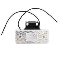 Lampa gabarit alba LED laterala cu fir si suport 24V