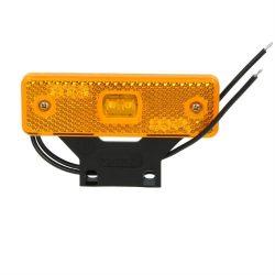 Lampa gabarit galbena LED cu suport si fir 12/24V