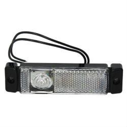 Lampa pozitie alba LED 12/24V cu fir