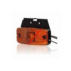 Lampa pozitie galbena LED cu suport si fir 12/24V