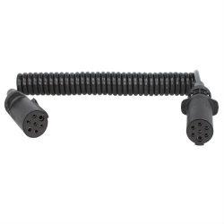 Cablu electric 7 pini tip N (mama) plastic spirala mica lungime 3.5m